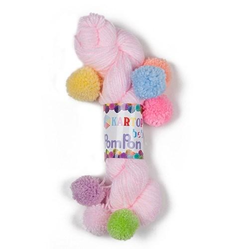 Kartopu Bebe Pompon Pembe Bebek Yünü - K782