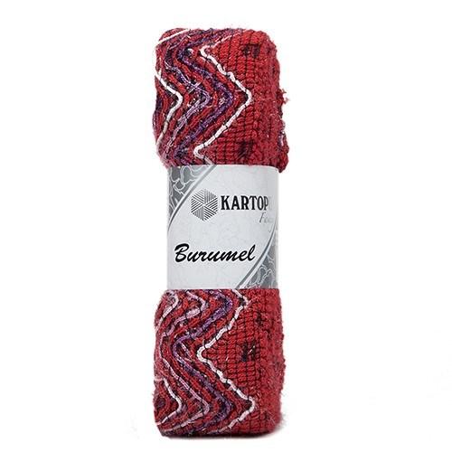 Kartopu Burumel Ebruli El Örgü İpi - K125