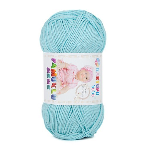 Kartopu Pamuklu Bebe Açık Mavi Bebek Yünü - K551