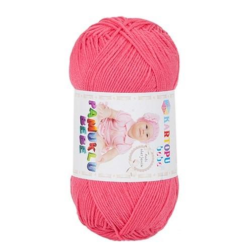 Kartopu Pamuklu Bebe Pembe Bebek Yünü - K771