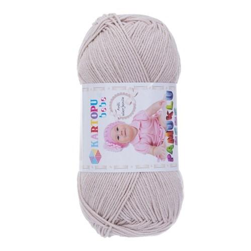 Kartopu Pamuklu Bebe Bej Bebek Yünü - K855