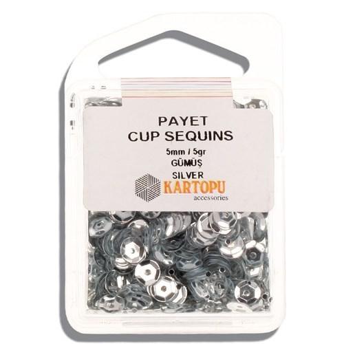 Kartopu 5 Mm Gümüş Payet - 01.100