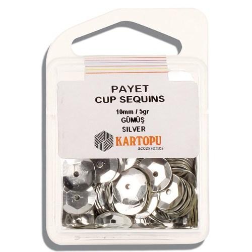 Kartopu 10 Mm Gümüş Payet - 03.100