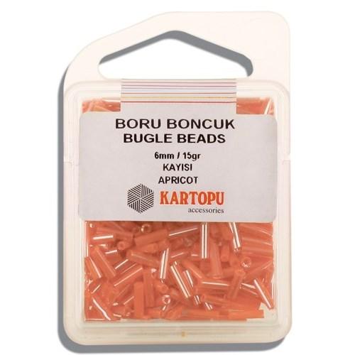 Kartopu 6 Mm Turuncu Boru Boncuk - 04.117