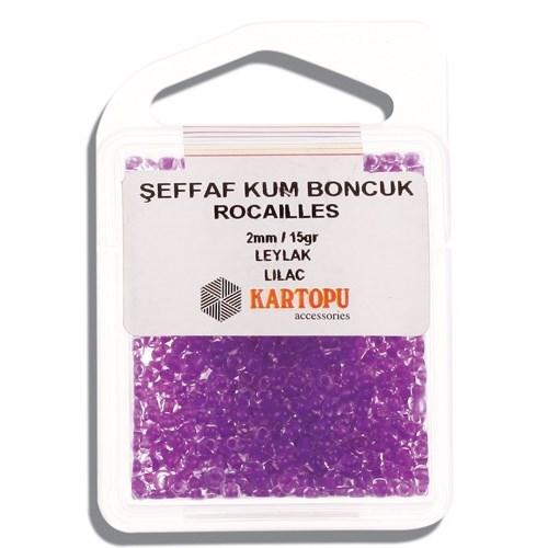 Kartopu 2 Mm Leylak Şeffaf Kum Boncuk - 08.110