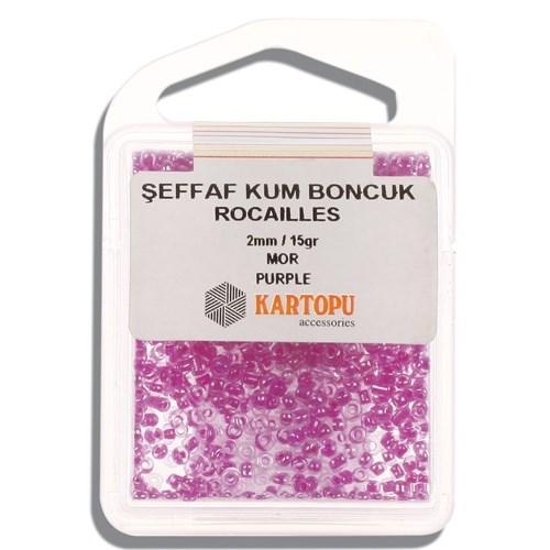 Kartopu 2 Mm Mor Şeffaf Kum Boncuk - 08.116