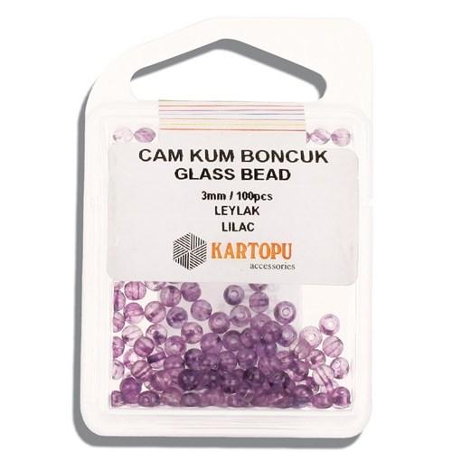Kartopu 3 Mm Leylak Cam Kum Boncuk - 10.110