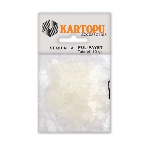 Kartopu Şeffaf Kelebek Figürlü Figürel Pul Payet - Pp5