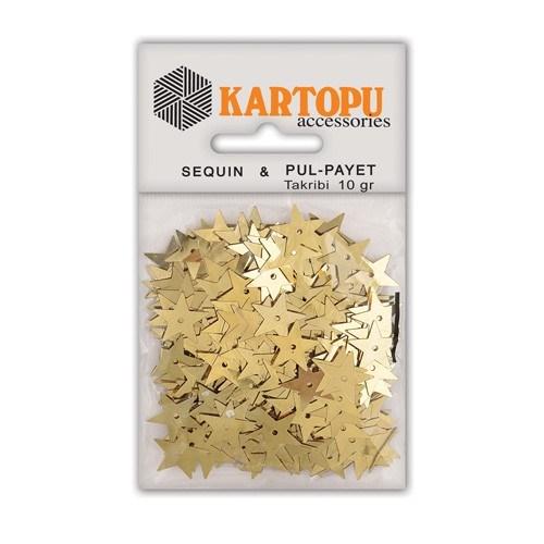 Kartopu Altın Yıldız Figürlü Figürel Pul Payet - Pp7
