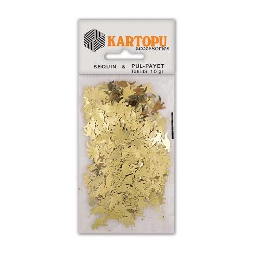 Kartopu Altın Dinazor Figürlü Figürel Pul Payet - Pp9