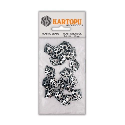 Kartopu Gümüş Rengi Leopar Dikilebilir Boncuk - Ldg8