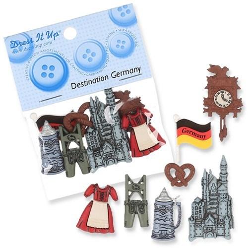 Kartopu Almanya Temalı Dekoratif Düğme - 3575