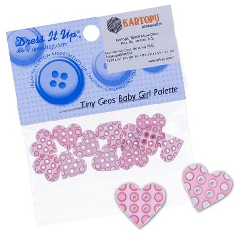 Kartopu Kalp Dekoratif Düğme - 4418