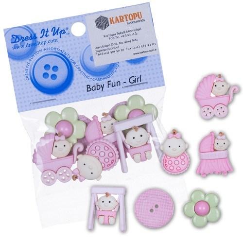 Kartopu Bebek Dekoratif Düğme - 5195