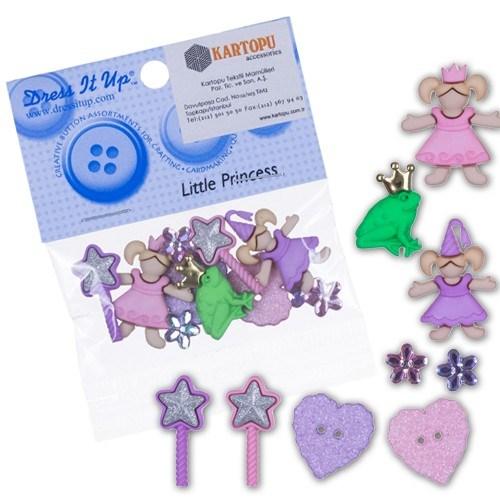 Kartopu Küçük Prenses Dekoratif Düğme - 5812