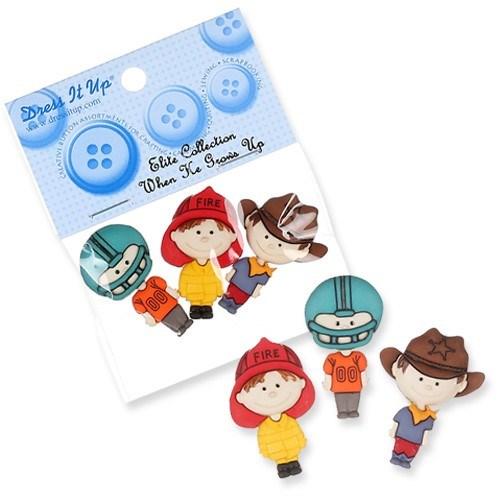 Kartopu Çizgi Karakteri Şeklinde Dekoratif Düğme - 6545