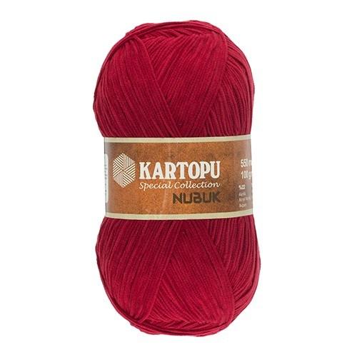 Kartopu Nubuk Kırmızı El Örgü İpi - Tn571