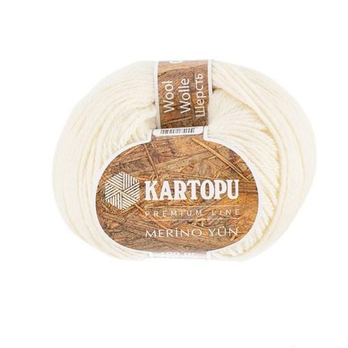 Kartopu Merino Beyaz El Örgü İpi - K048