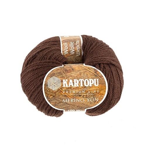 Kartopu Merino Kahverengi El Örgü İpi - K892