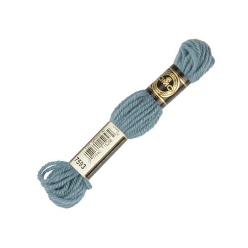 Dmc Yün Çile 8 M Mavi Nakış İpliği - 7593