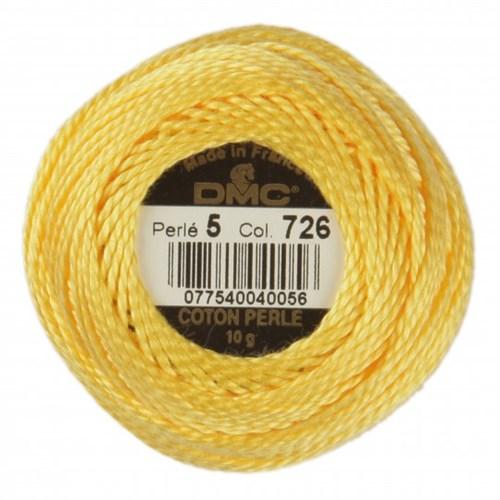 Dmc Koton Perle Yumak 10 Gr Sarı No:5 - 726