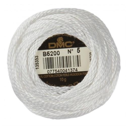 Dmc Koton Perle Yumak 10 Gr Beyaz No:5 - B5200