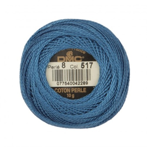 Dmc Koton Perle Yumak 10 Gr Mavi No:8 - 517