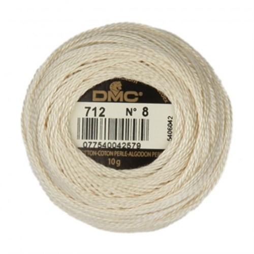 Dmc Koton Perle Yumak 10 Gr Beyaz No:8 - 712