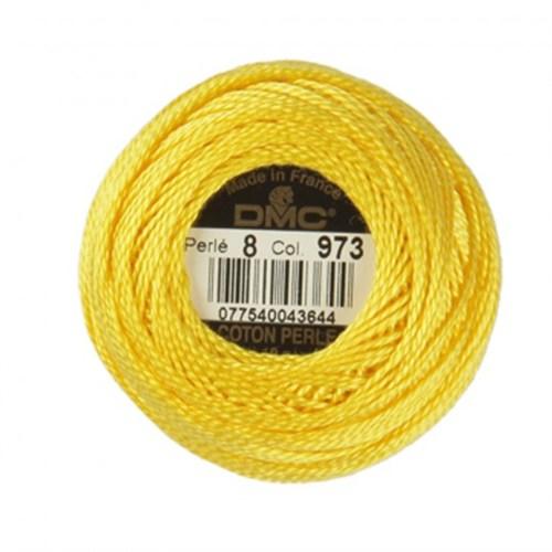 Dmc Koton Perle Yumak 10 Gr Sarı No:8 - 973