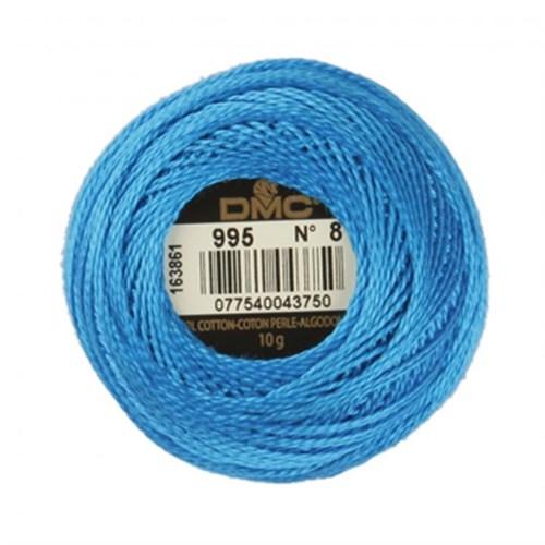 Dmc Koton Perle Yumak 10 Gr Mavi No:8 - 995