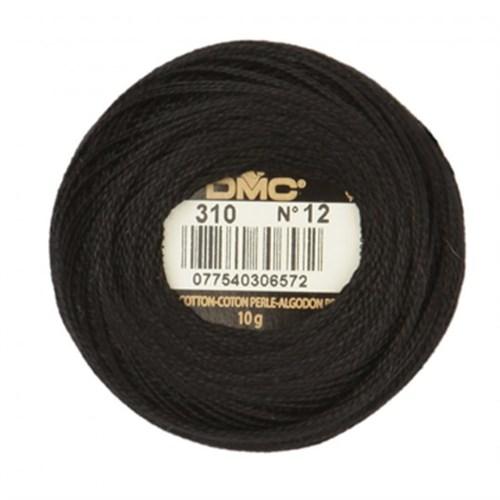 Dmc Koton Perle Yumak 10 Gr Siyah No:12 - 310