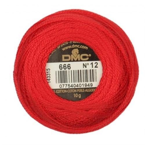 Dmc Koton Perle Yumak 10 Gr Kırmızı No:12 - 666