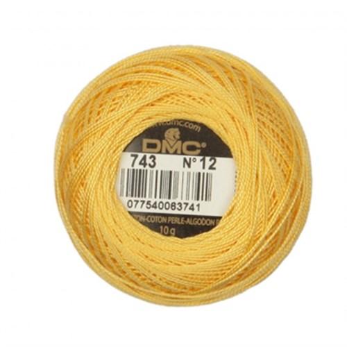 Dmc Koton Perle Yumak 10 Gr Sarı No:12 - 743