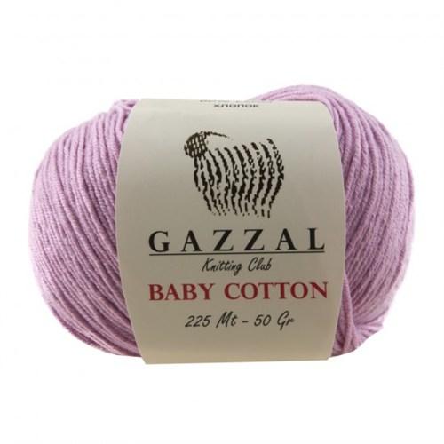 Gazzal Baby Cotton Lila Bebek Yünü - 3422