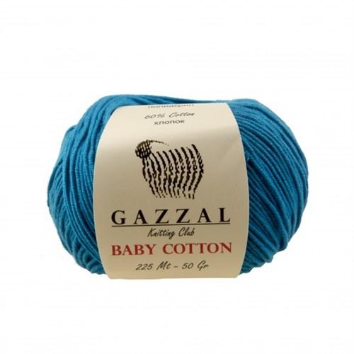 Gazzal Baby Cotton Mavi Bebek Yünü - 3428