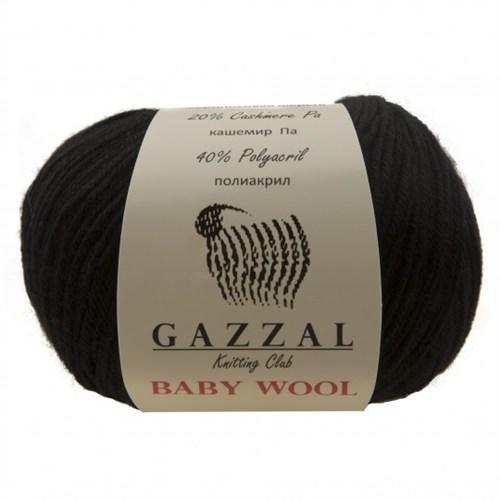 Gazzal Baby Wool Siyah Bebek Yünü - 803