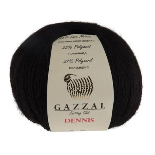 Gazzal Dennis Siyah El Örgü İpi - 910