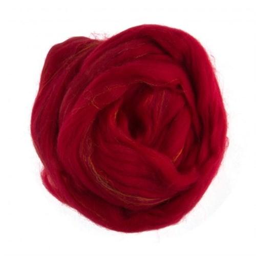 Gazzal Felt Wool Lurex Kırmızı Yün Keçe - 6006