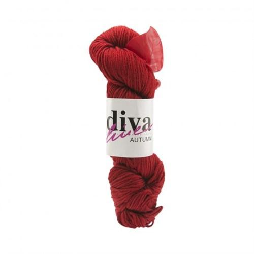 Diva Line Autumn Kırmızı El Örgü İpi