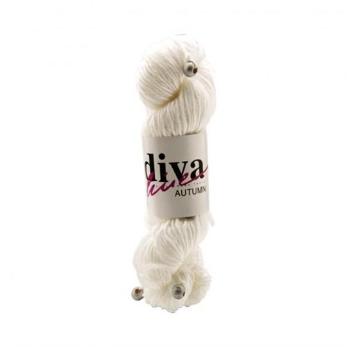 Diva Line Autumn Beyaz El Örgü İpi