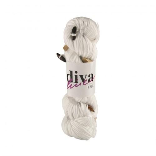 Diva Line Fall Beyaz El Örgü İpi