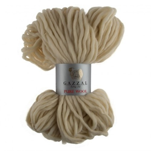 Gazzal Pure Wool Bej El Örgü İpi - 5242