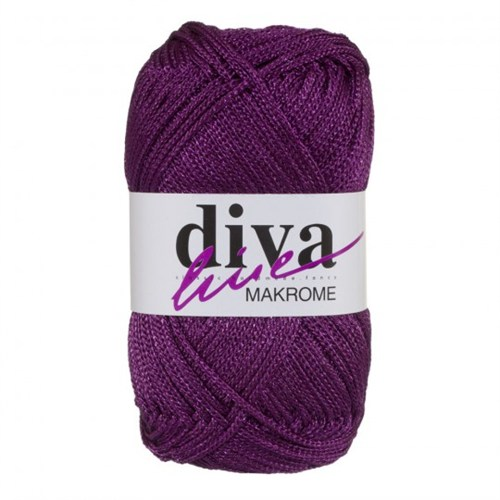 Diva Line Makrome Koyu Mor El Örgü İpi - 1532