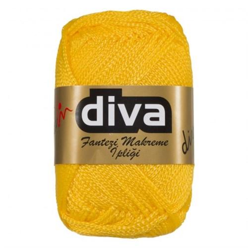 Diva Line Makrome Hardal Sarısı El Örgü İpi - 90