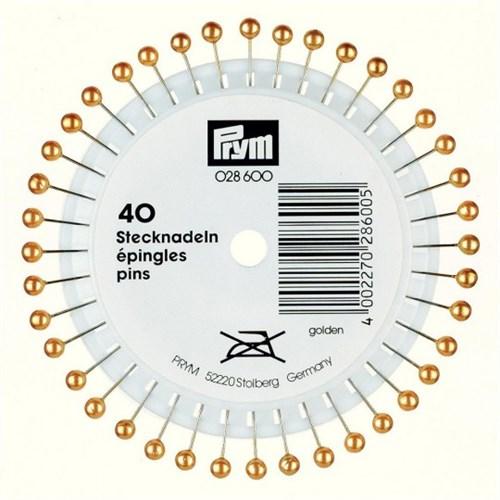 Prym 40 Adet Altın Rengi Boncuk Başlı Toplu İğne - 028600