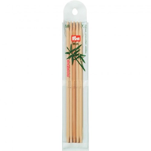 Prym 5 Mm 20 Cm Bambu 5'Li Çorap Şişi - 221216