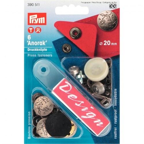 Prym 20 Mm 6 Adet Baskılı Kabartmalı Çıt Çıt - 390511