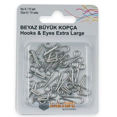 Kartopu 9 Numara Gümüş Büyük Kopça - K007.1.0031