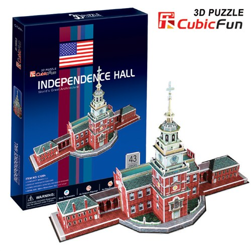 Cubic Fun Independence Hall (3D Puzzle)