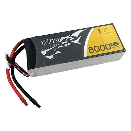 Tattu 8000Mah 14.8V 25C 4S2p Lipo Batarya